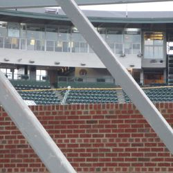 New control room now visible next to the press box -