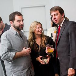 Lauren Merkin's Jesse Kaplan and Lauren Goldberg with Curbed Network founder Lockhart Steele.