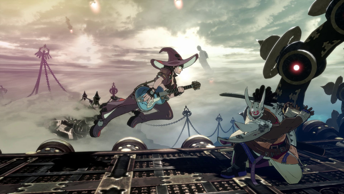 Two characters face off in Guilty Gear Strive