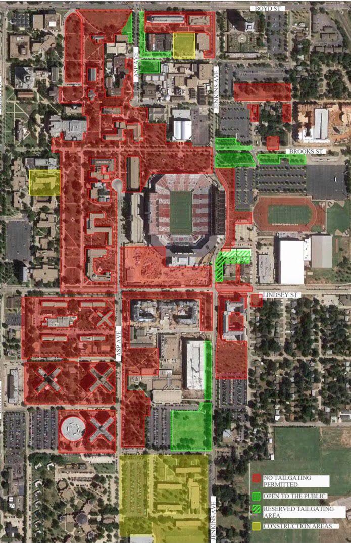 University Of Oklahoma Map Oklahoma Sooners Football: OU updates tailgating map following