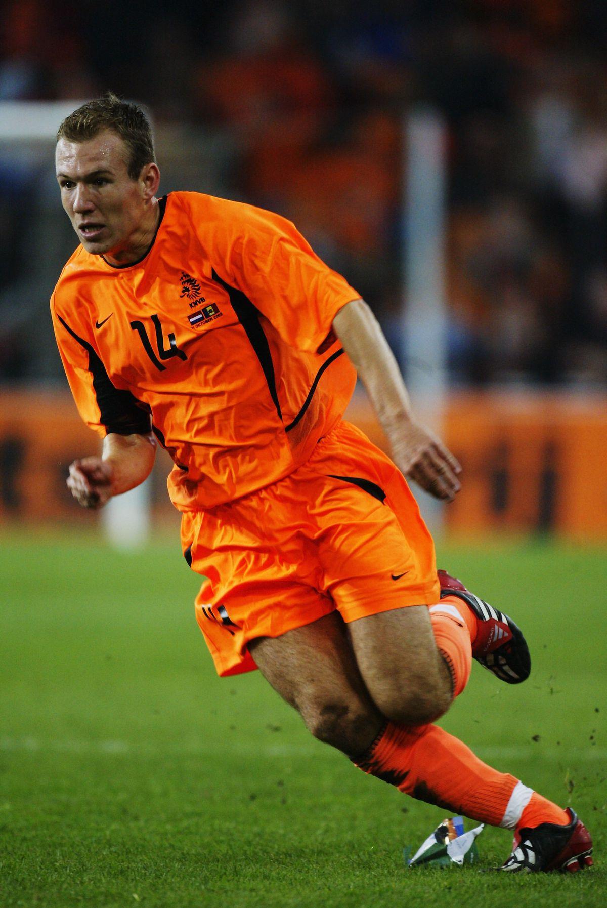 Arjen Robben of Holland in action