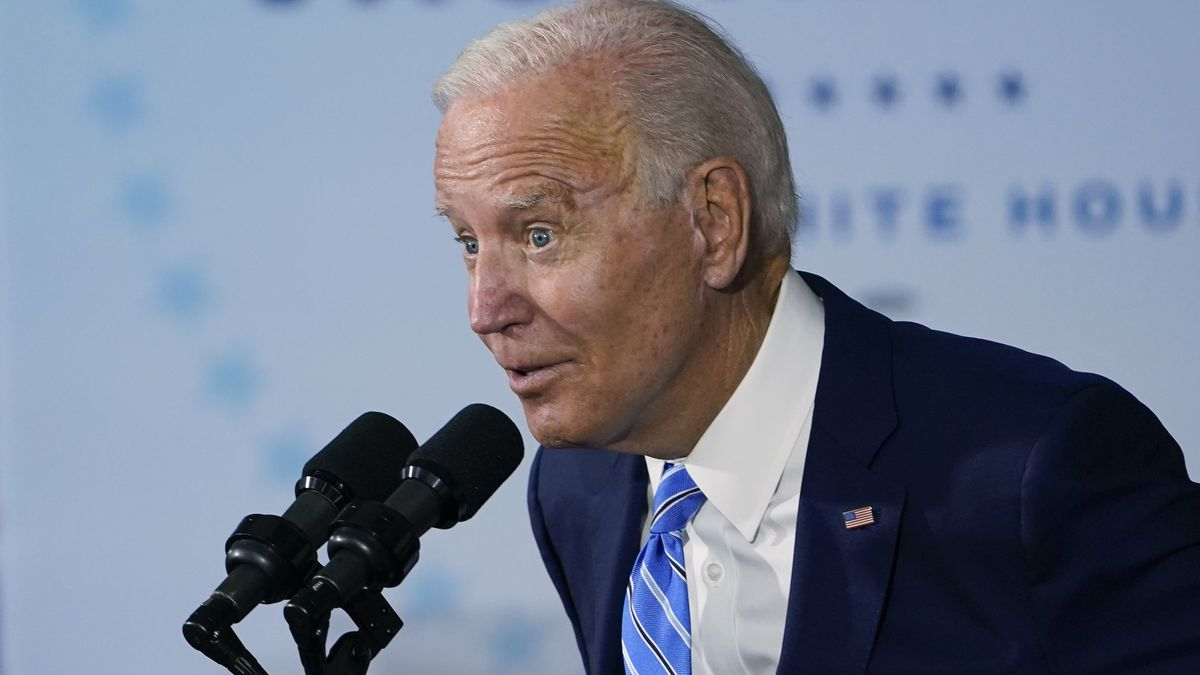 President Joe Biden speaks about COVID-19 vaccinations after touring a construction site in Elk Grove Village, Ill.