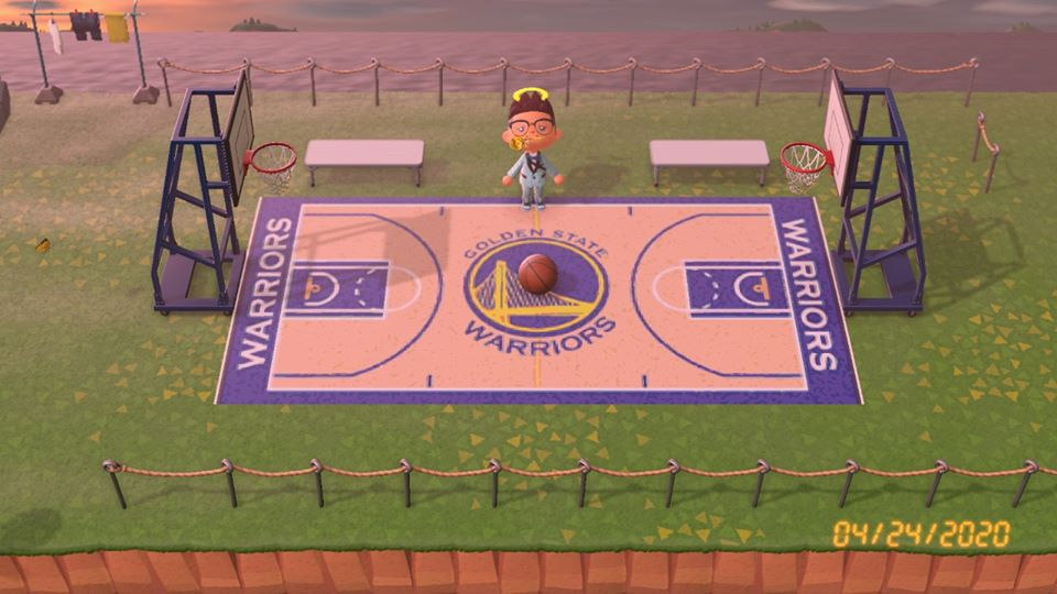 Warriors News Someone Made A Golden State Court In Animal Crossing Golden State Of Mind