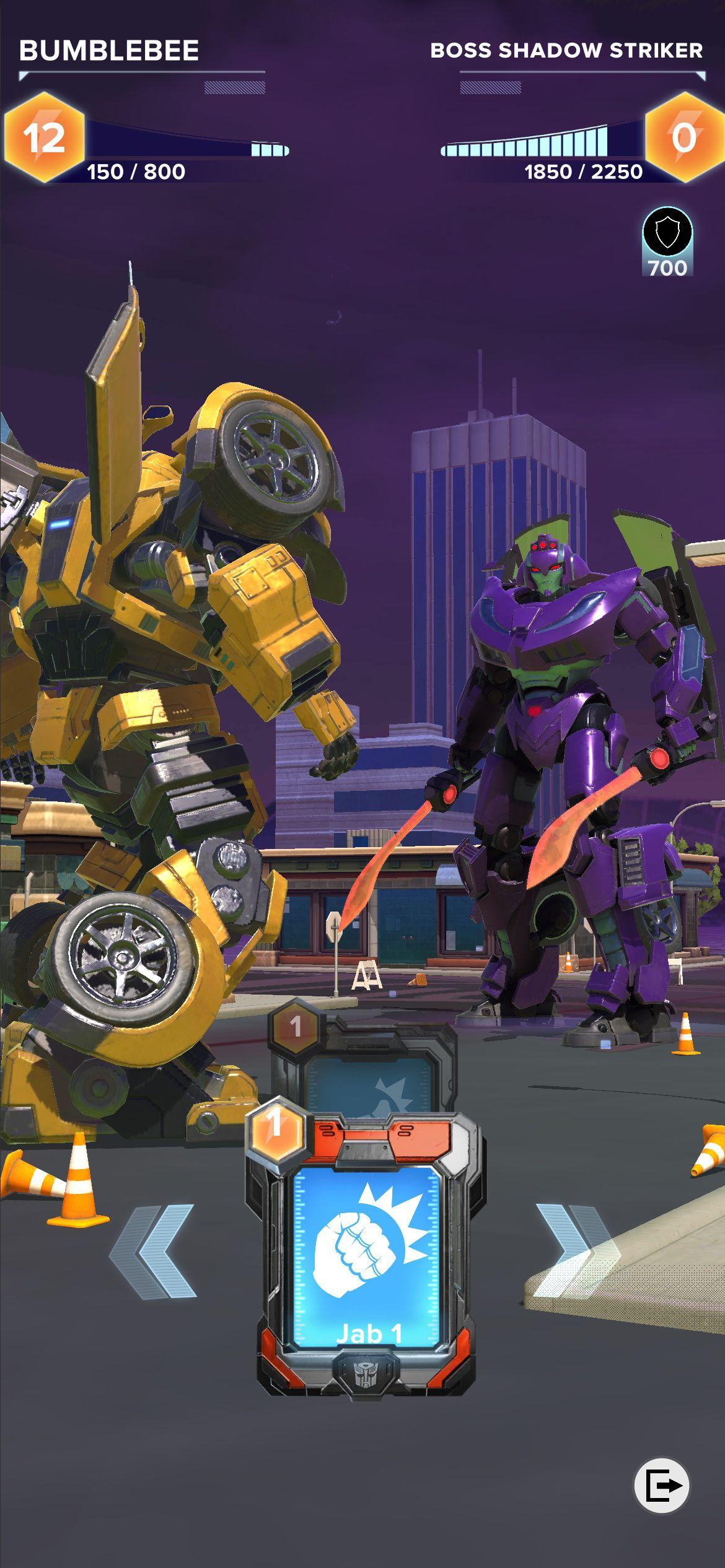 Bumblebee battles a Decepticon in Transformers: Heavy Metal