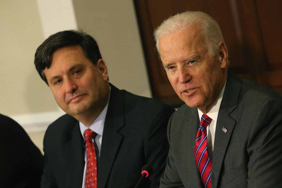 Joe Biden And Ebola Response Coordinator Ron Klain Meet With Aid Groups