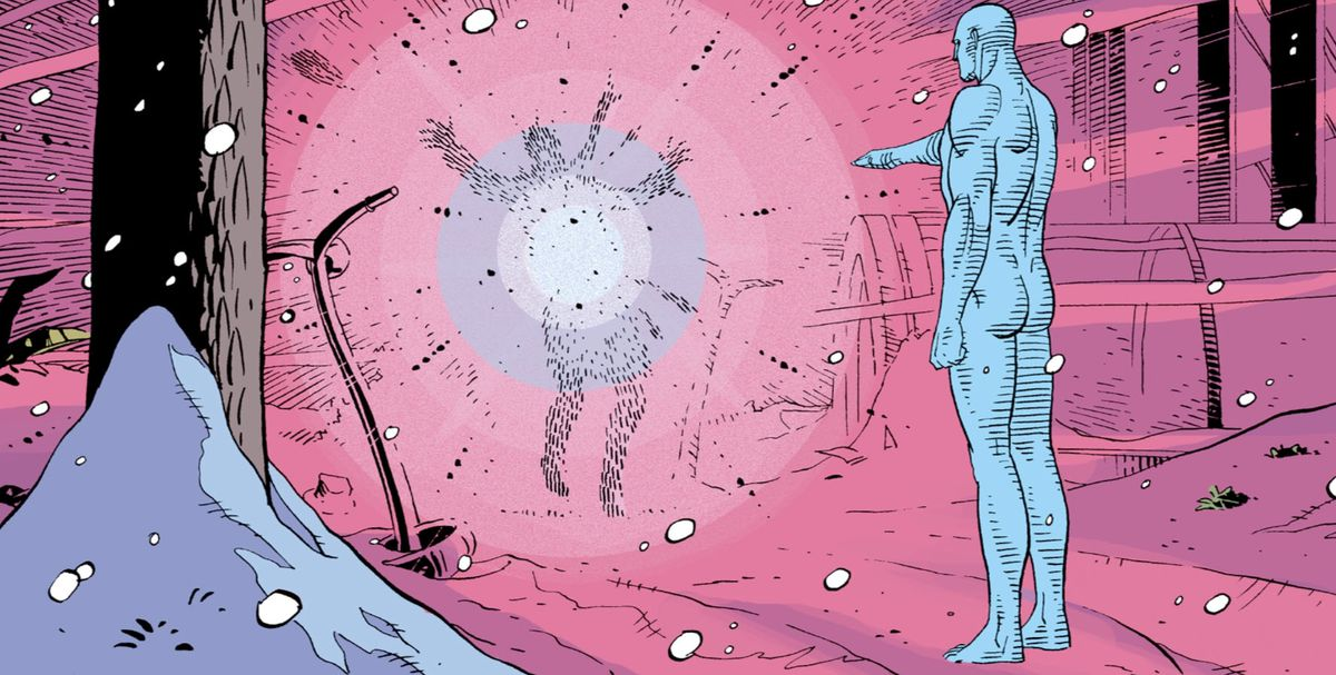 Rorschach's death at the hands of Doctor Manhattan in Watchmen #12 (1986), DC Comics