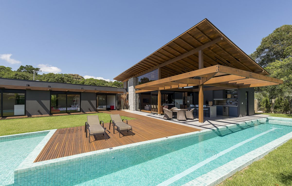 House with large pool