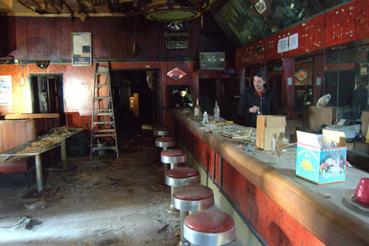 Thirty years of dust lies over The 715 Club.