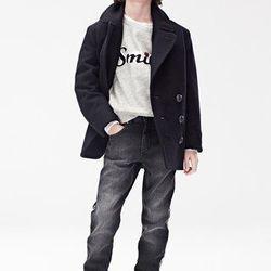 Coat ($79.95), Sweatshirt ($49.95), Pants ($49.95), Suede Boots ($99)