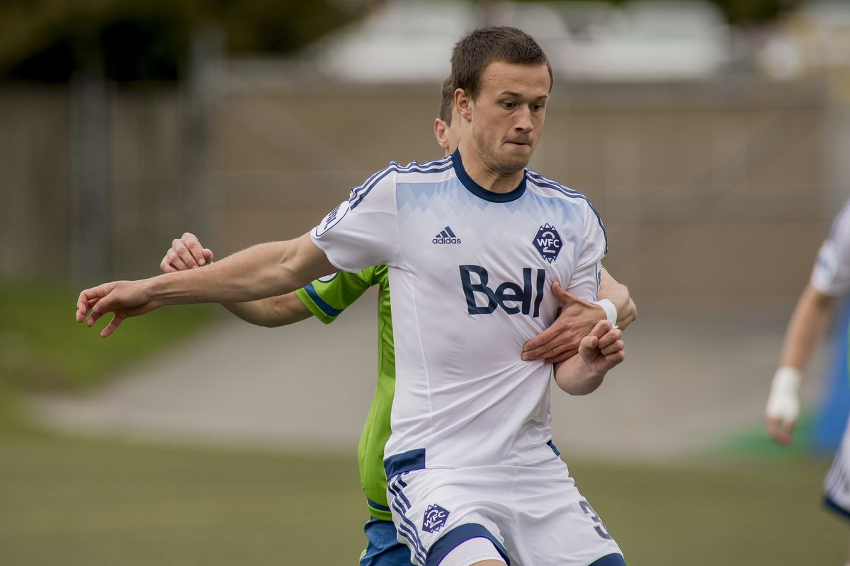 A good effort and some outstanding goalkeeping from Spencer Richey wasn't enough for Ben McKendry (above) and his WFC2 teammates to bring back a point (or three) from Southern California.