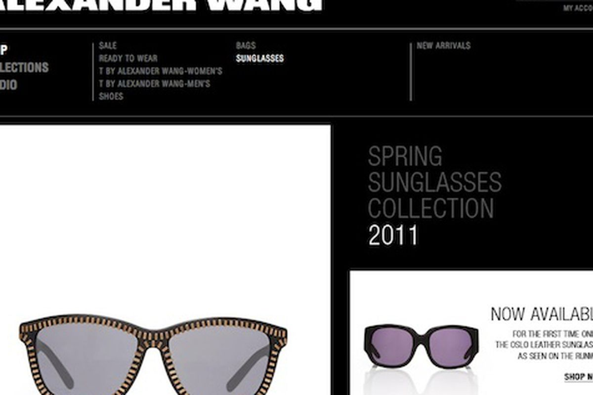 dd8346cd13 Now stocking sunglasses racked jpg 1200x800 Alexander wang shades