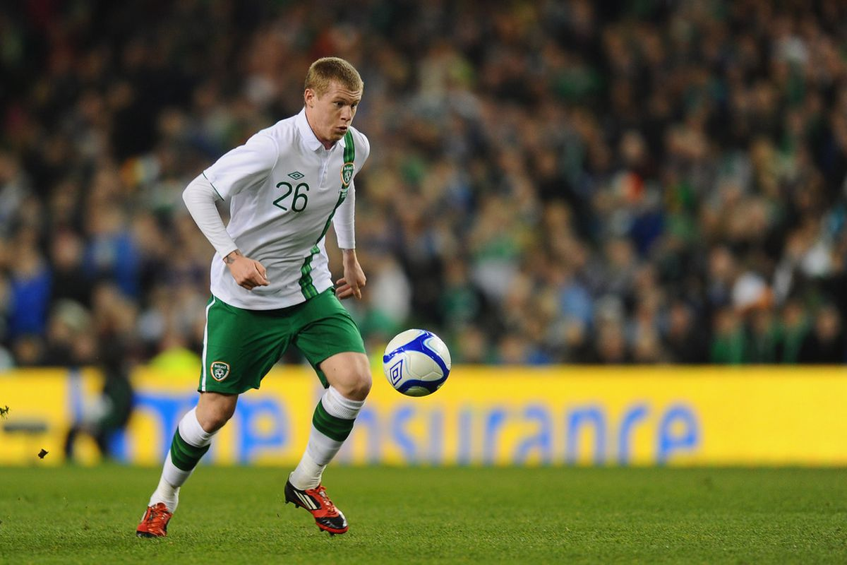 James McClean was in top form this afternoon.