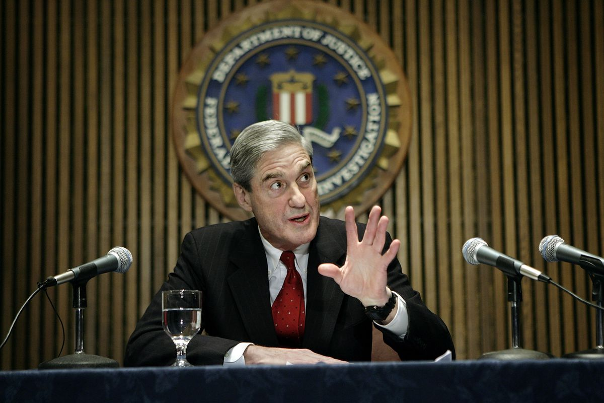 Robert Mueller speaks at a news conference at the FBI's headquarters March 9, 2007 in Washington, DC.