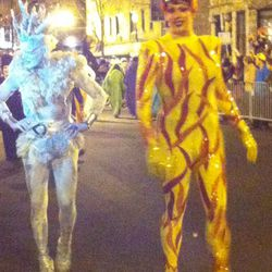 Amazing costumes at the Boystown annual Halloween Parade.   Sun-Times Archives