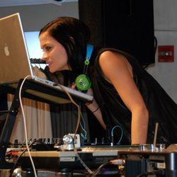 Leigh Lezark, do you need glasses? She DJed at DKNY Madison.