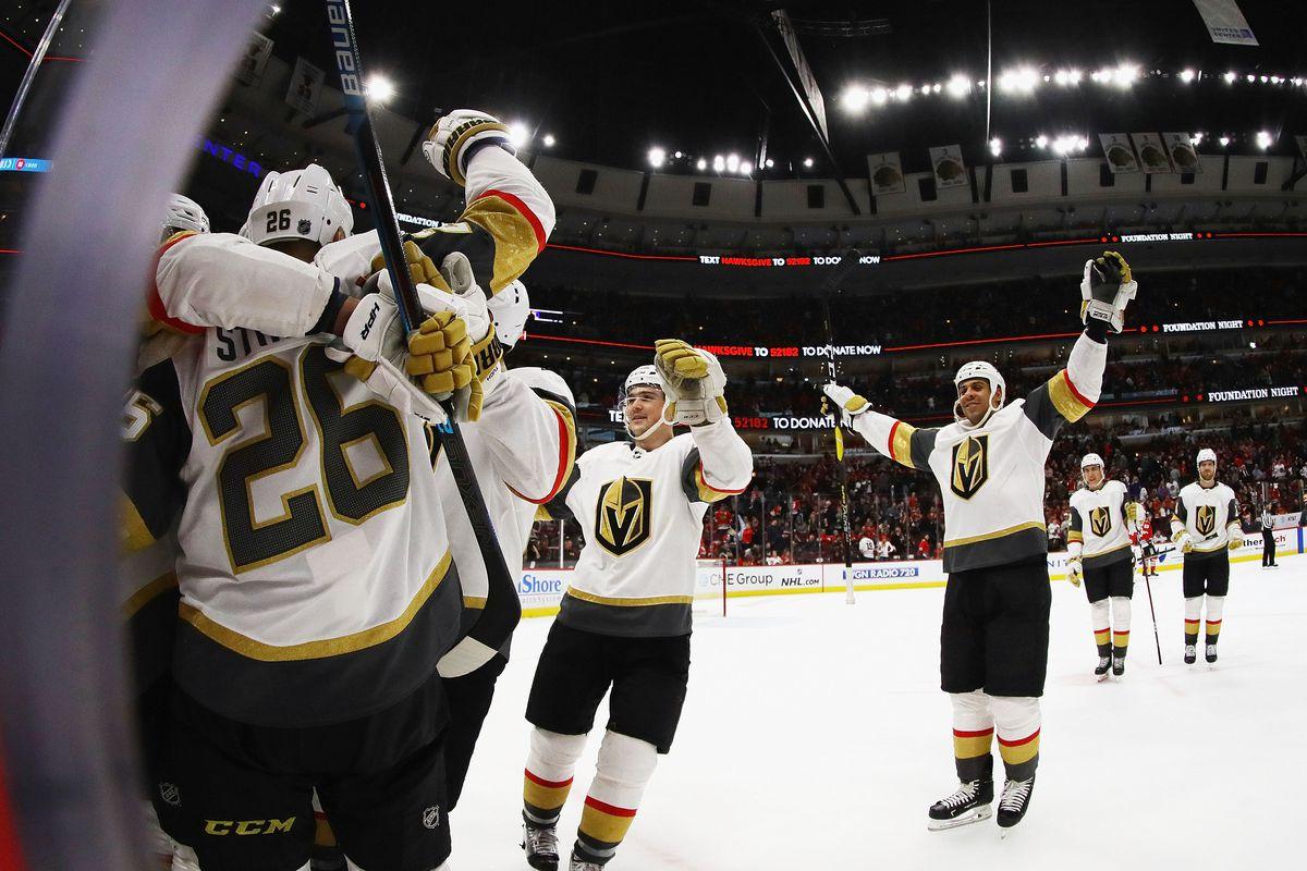 Vegas Golden Knights v Chicago Blackhawks