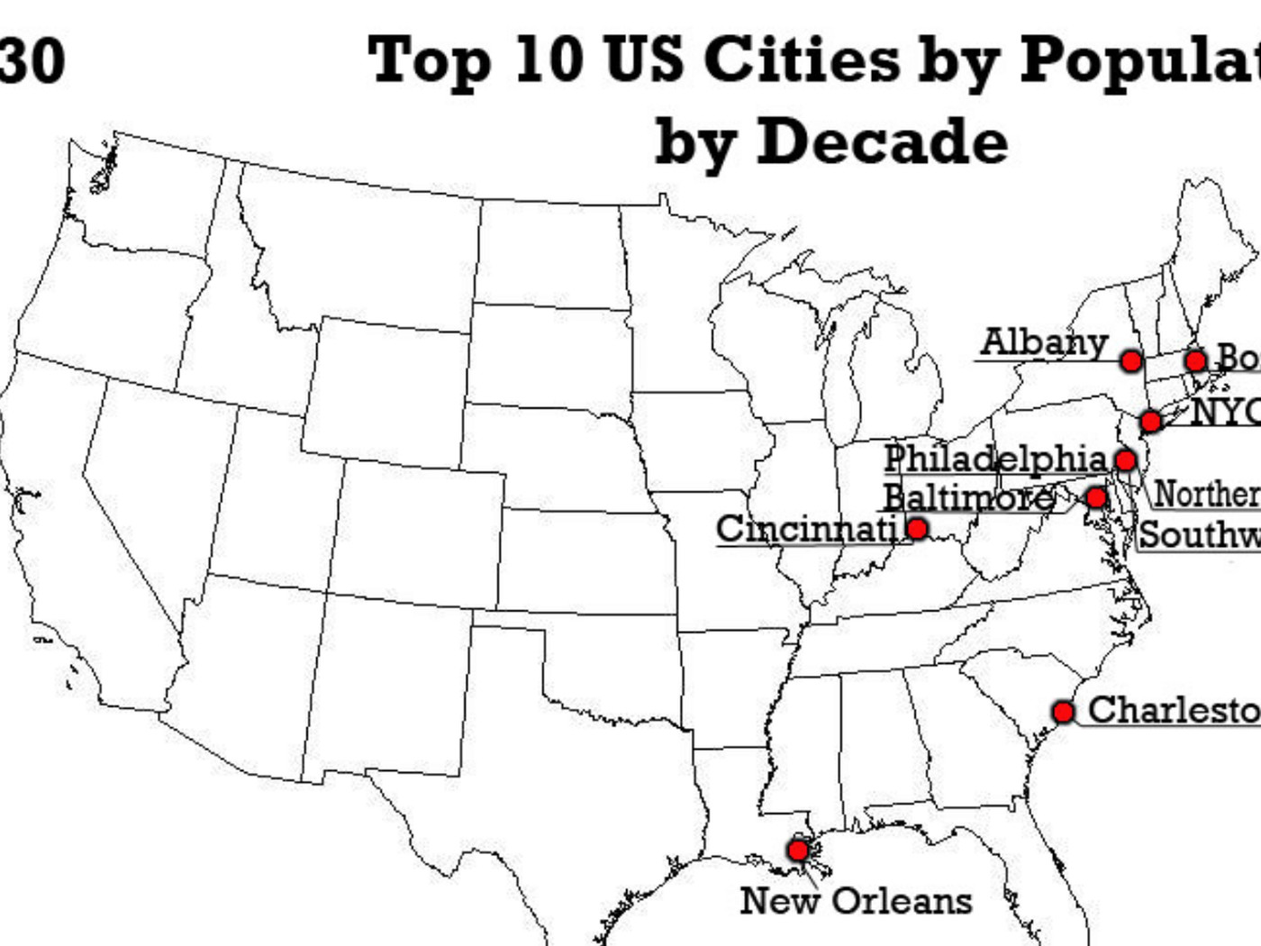 America\'s 10 biggest cities, in every decade going back to 1790 - Vox