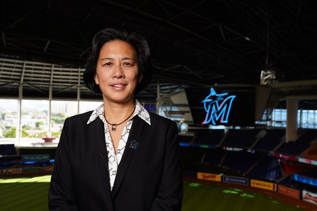 MLB: Kim Ng at Marlins Park