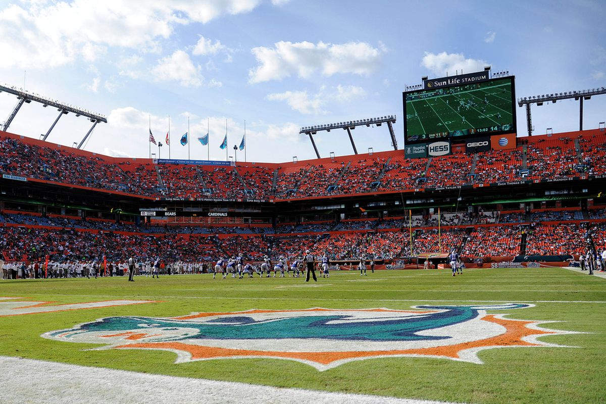 Dec. 23, 2012;  Miami, FL, USA; A general view Sun Life Stadium during a game between the Buffalo Bills and the Miami Dolphins.