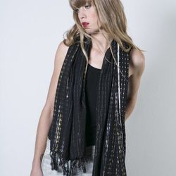 """<span class=""""credit""""><b>Ace + Jig</b> Provencial Scarf at <b>Covet + Lou</b>, <a href=""""http://covetandlou.com/collections/accessories/products/ace-and-jig-provencial-scarf-in-nile"""">$130</a></span><p>"""