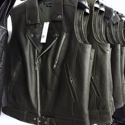 Leather vest, $449 (was $855)