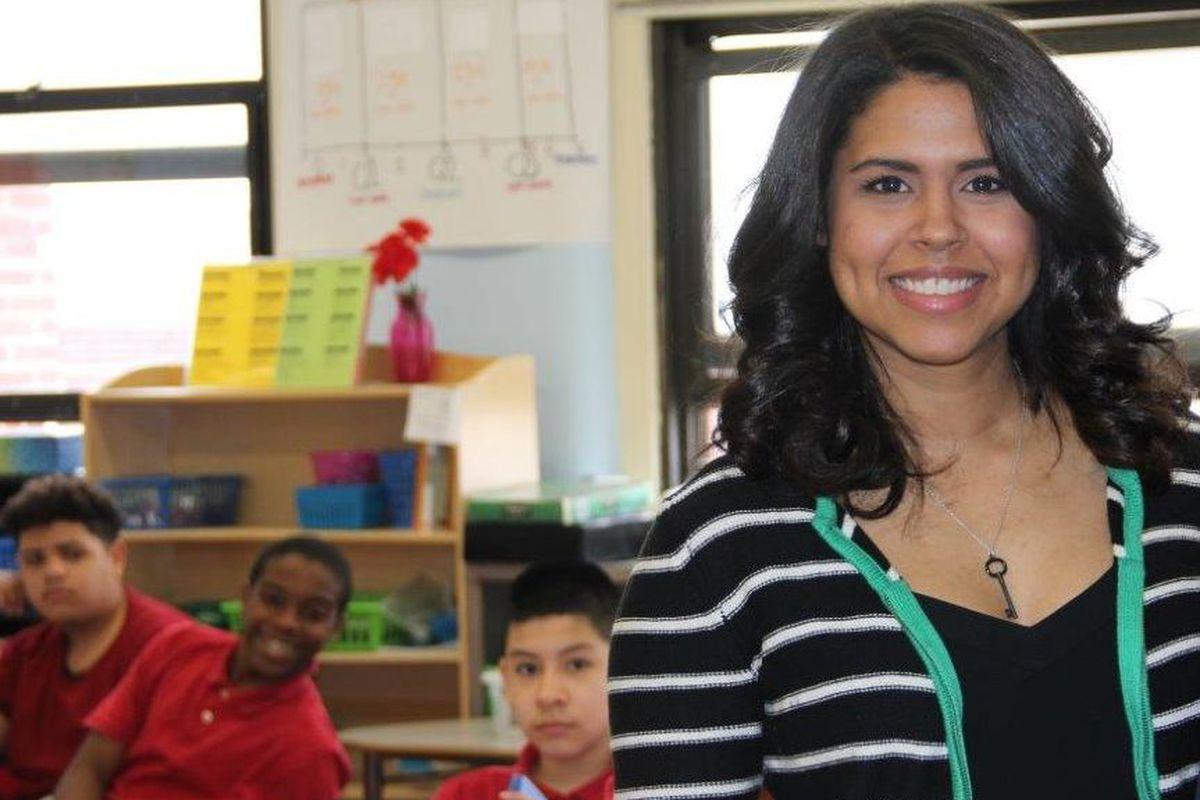 Carolyn Garcia is a seventh-grade math teacher at Abington Avenue School in Newark.