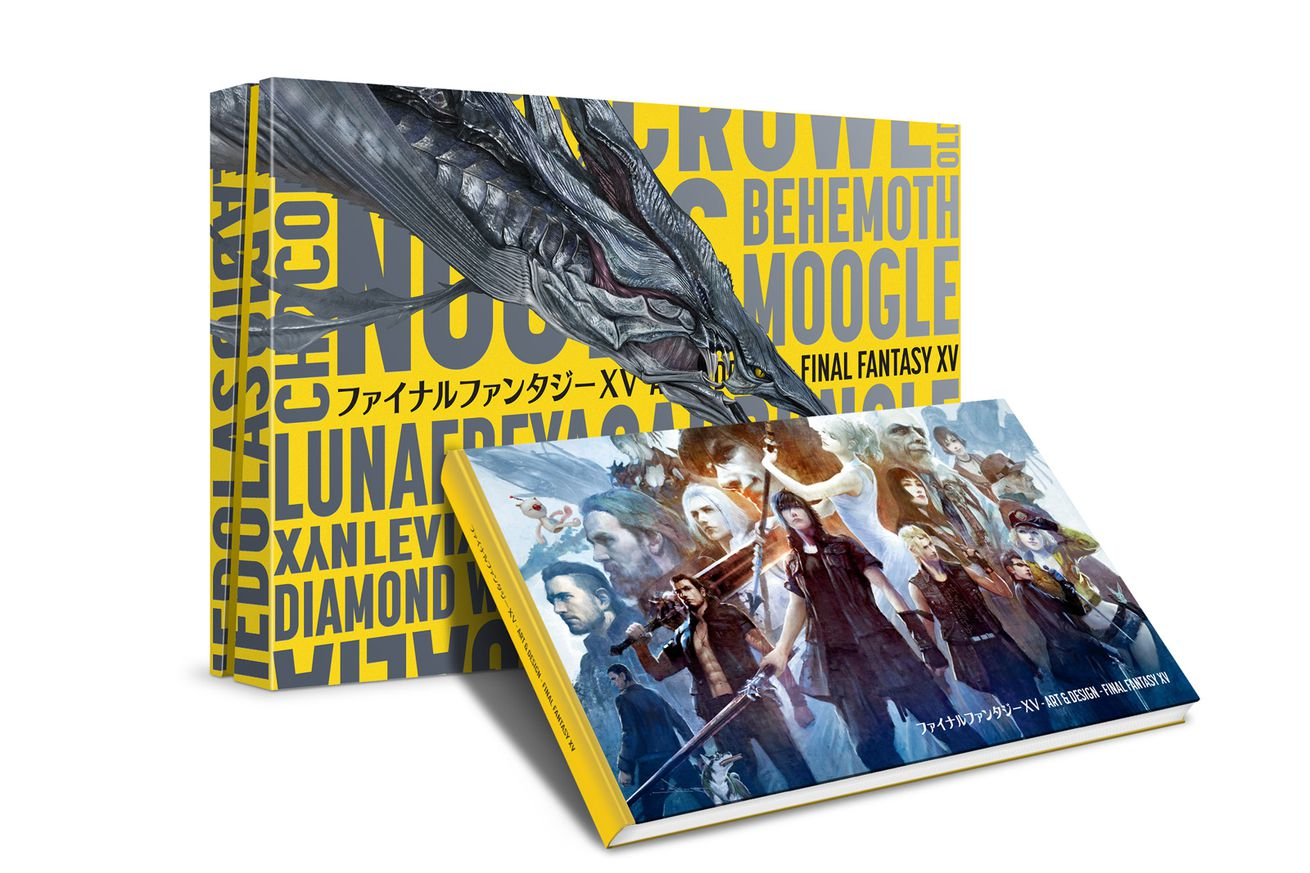 this sprawling final fantasy xv art book is too big for your bookshelf