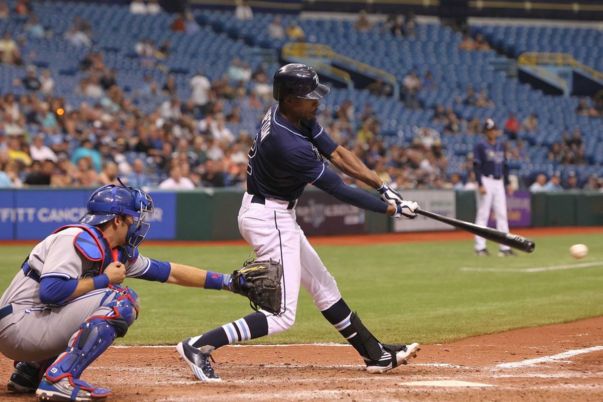 Here's B.J. Upton, but it might as well be Byron Buxton, as they look pretty similar on the baseball field.