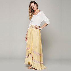 "<strong>Maheya</strong> Sari Border Maxi, <a href=""http://www.freepeople.com/clothes-skirts/maheya-sari-border-maxi/_/PRODUCTOPTIONIDS/B075318A-4CE8-403C-90AB-69F77886252D/"">$328</a> at Free People"