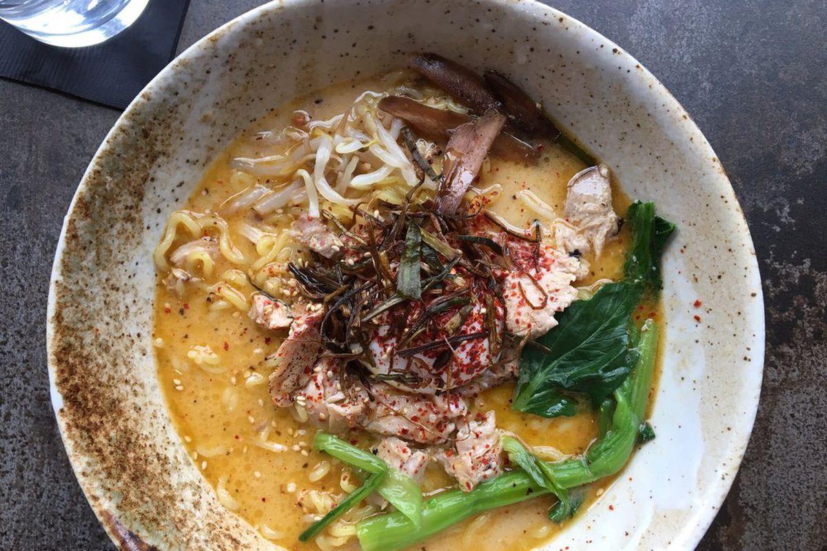 A bowl from Tori Ramen