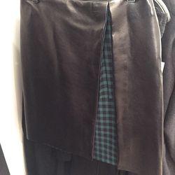 Leather skirt, $150