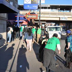 St. Patrick's Day revelers on Addison -