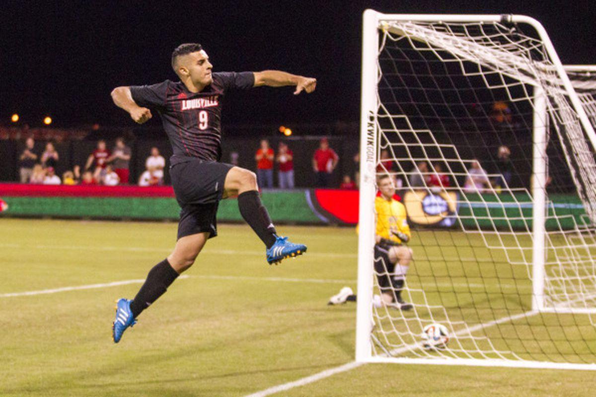 Ricardo Velazco added goals three and four to his tally on Friday night vs. Pitt