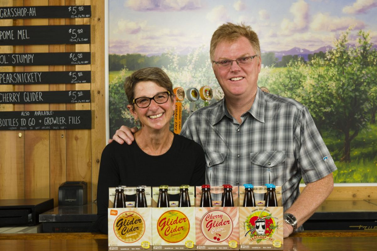 Colorado Cider Company Owners Kathy and Brad Page