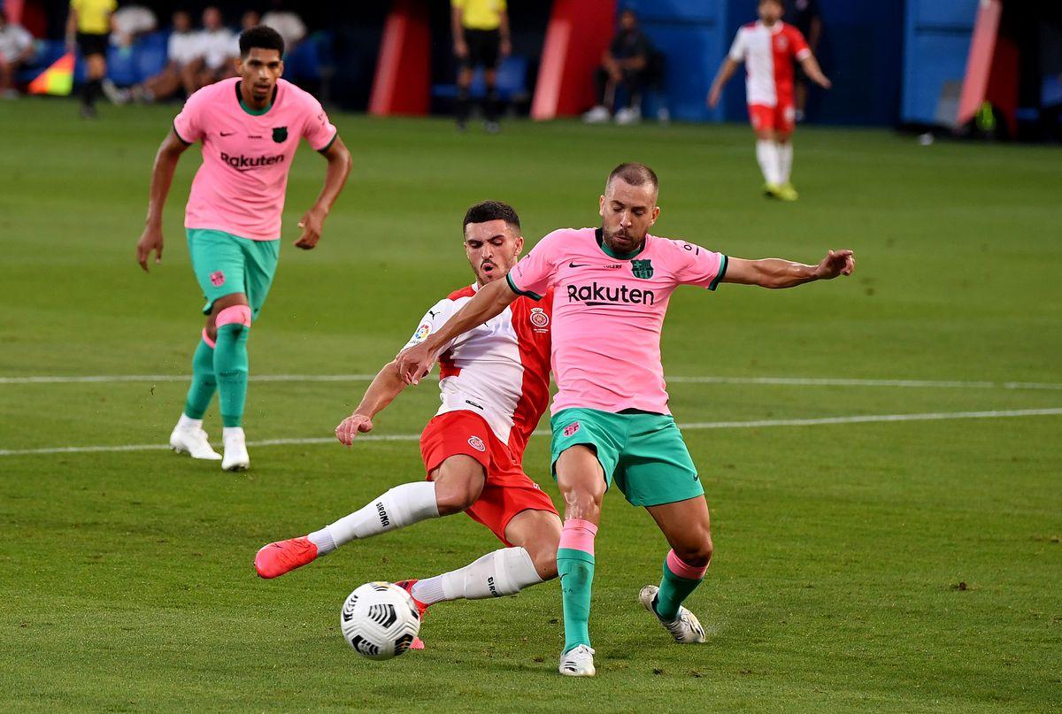 Jordi Alba, FC Barcelona v Girona - Pre-Season Friendly