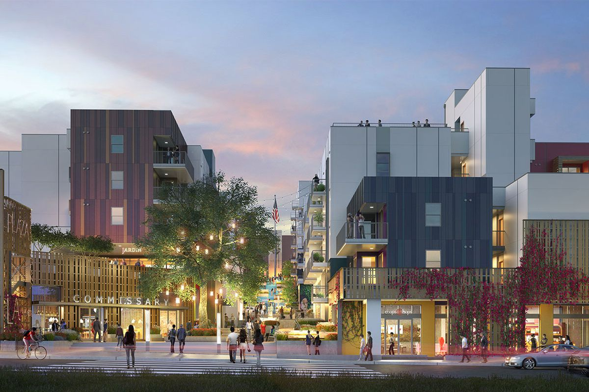 A rendering of the LA Plaza Cultura Village
