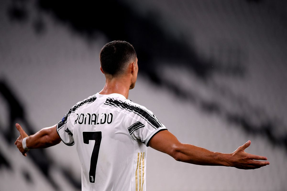Cristiano Ronaldo of Juventus FC dissappointed during the...