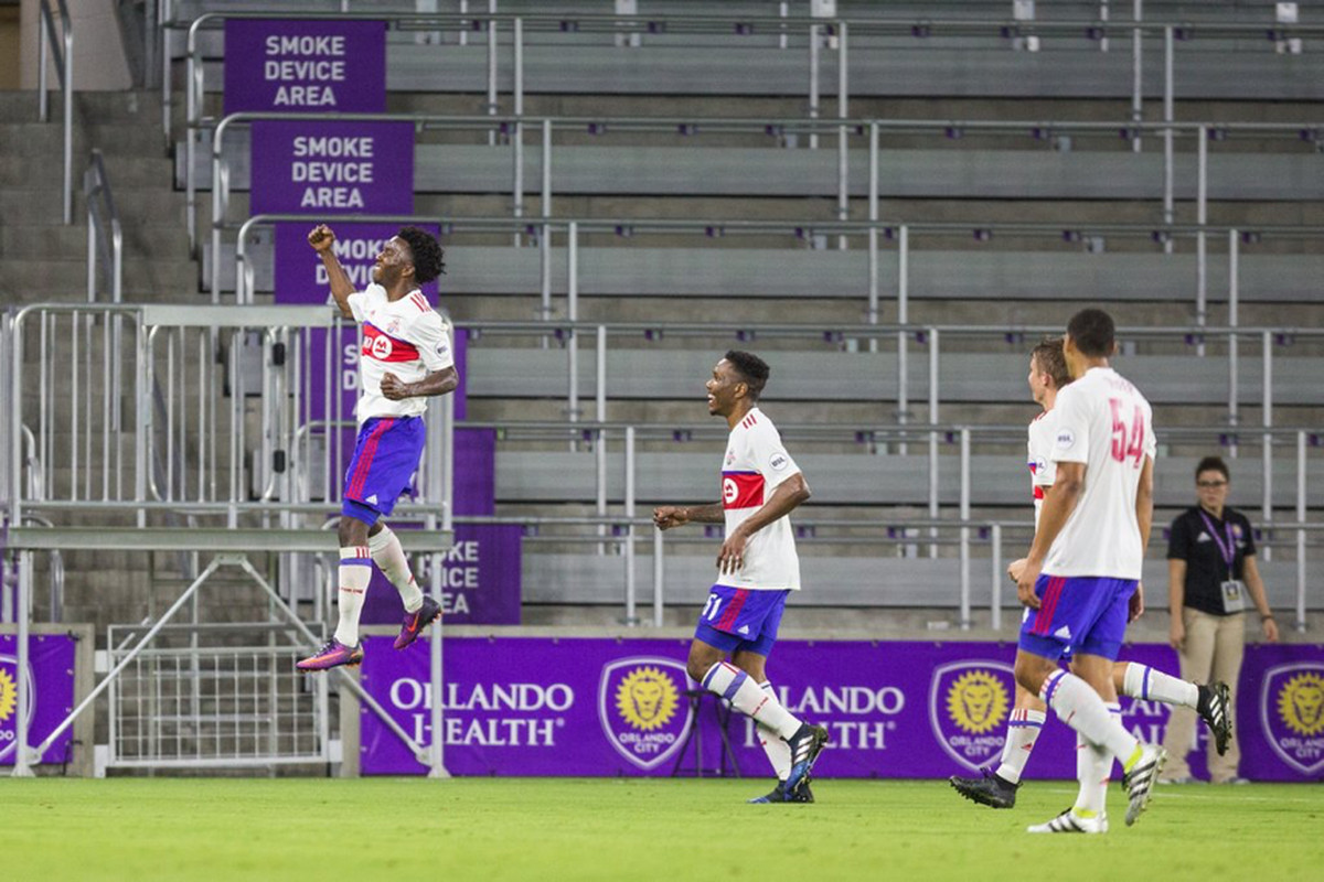 USL TFC II @ Orlando City B Malik Johnson goal celebration