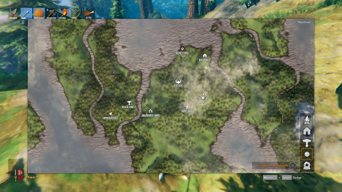 A screenshot of a map in Valheim