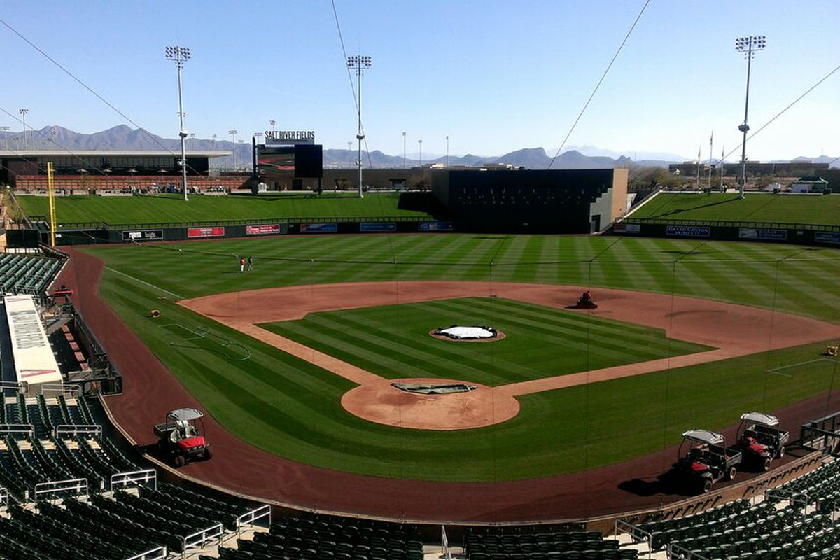 """""""Ahhhhh... yes! Home Sweet Home here at @SaltRiverFields for #Dbacks Spring Opener today vs #Rockies"""""""