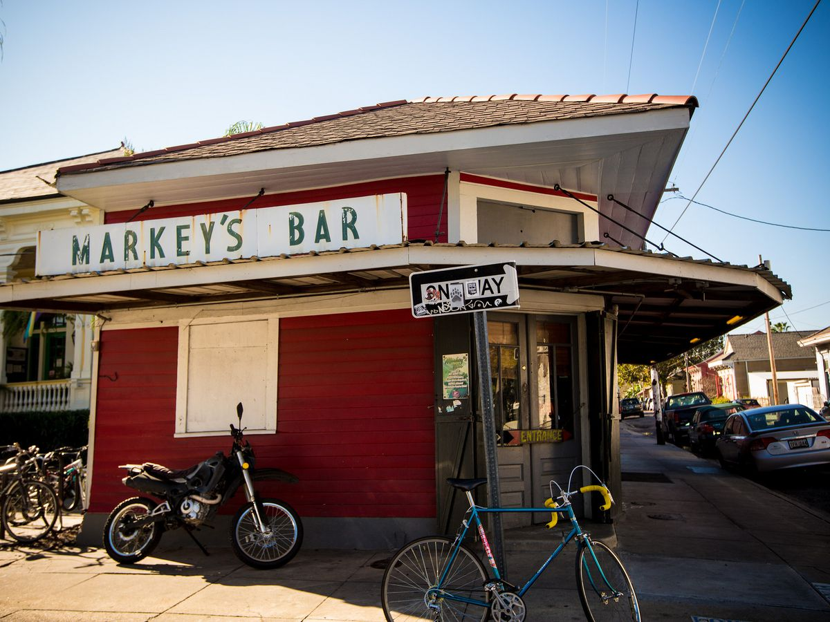Markey's Bar, a Bywater favorite for watching live sports on television.