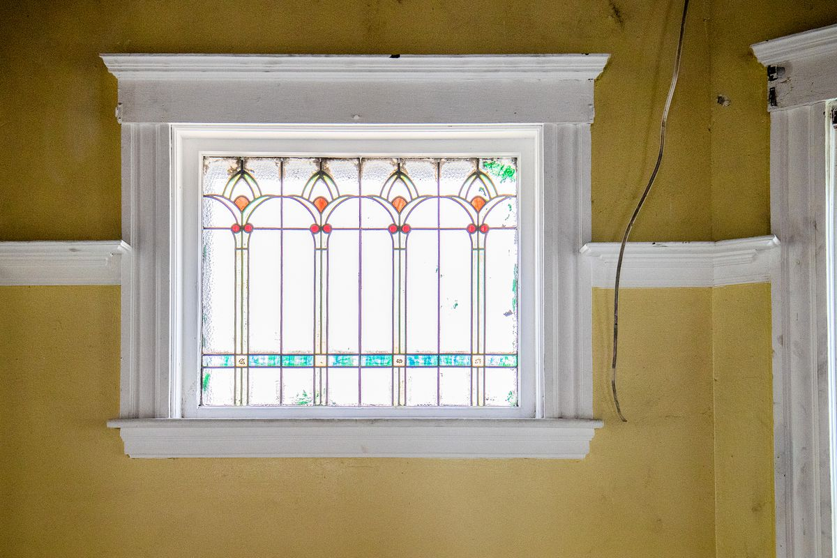 Spring 2021, Dorchester 1st look, stained-glass window