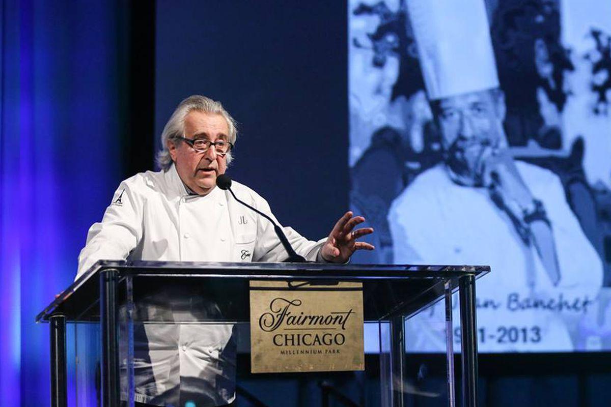 Chef Jean Joho at last year's Jean Banchet Awards