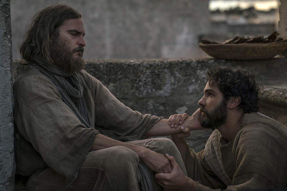 Joaquin Phoenix and Tahar Rahim in Mary Magdalene.