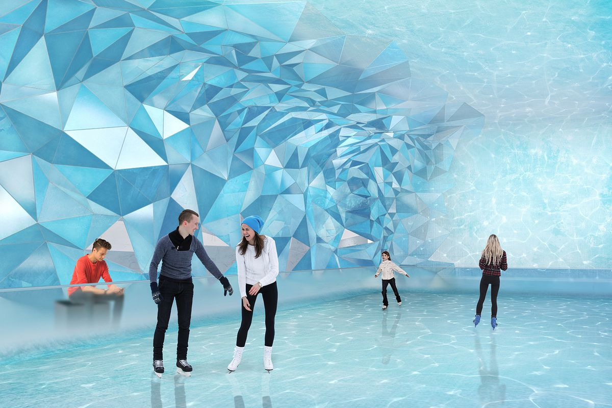 Rendering Of An Indoor Ice Skating Rink Courtesy Estates At Acqualina