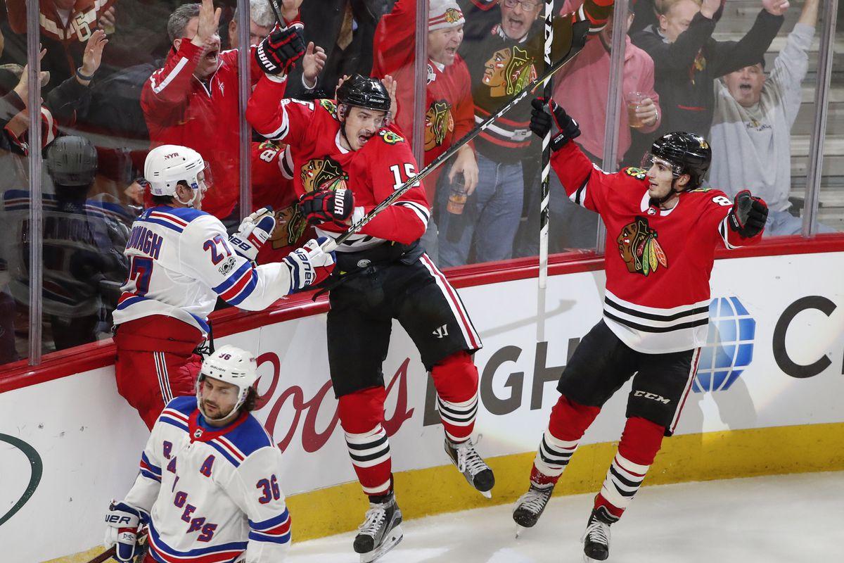NHL: New York Rangers at Chicago Blackhawks