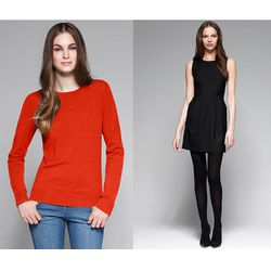 """<a href=""""http://www.theory.com/wool-sweater/C0711713,default,pd.html?dwvar_C0711713_color=J9K&start=29&cgid=womens-just-in""""><b>Theory</b> Tommie Stretch Wool Sweater</a> $215 and <a href=""""http://www.theory.com/black-dress/C0701601,default,pd.html?dwvar_C0"""