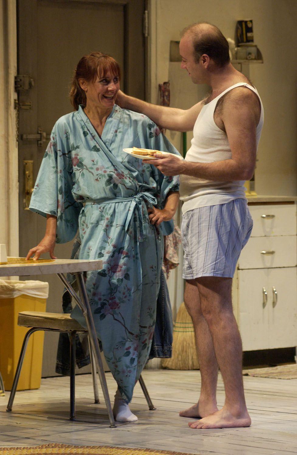Frankie and Johnny in the Clair de Lune by Terrence McNally, directed by ensemble member Austin Pendleton, featuring ensemble members Laurie Metcalf and Yasen Peyankov, running at Steppenwolf through August 29.