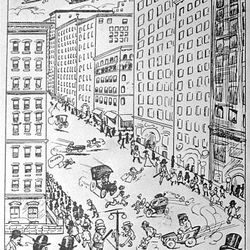 In 1905 a Deseret News artist imagined what Main Street would look like in 1915.