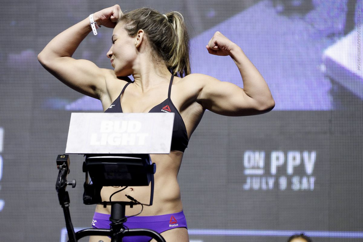 Miesha Tate will try to defend her UFC title at UFC 200 on Saturday night in Las Vegas.